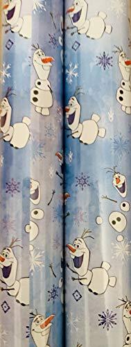 XMAS Geschenkpapier für Weihnachten, Motiv: Frozen Olaf, 8 m