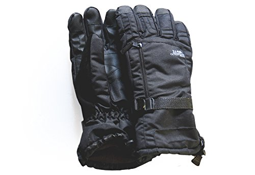Mountain Made Black Waterproof Winter Gloves.