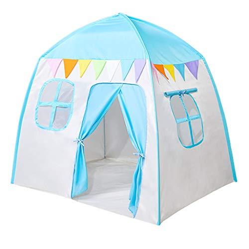 Play Tents Teepee Tent Kids Kids Home Children's Tent Boy Game House Indoor Princess Yurt Girl Castle House Children's Tent (Color : Blue, Size : 130 * 110 * 130cm)