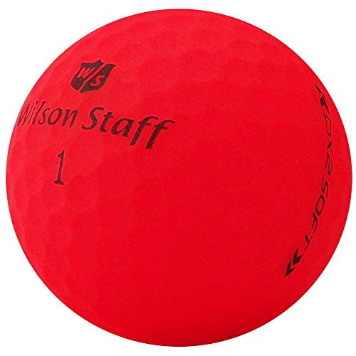 lbc-sports 24 Wilson Staff Dx2 / Duo Soft Optix Golfbälle - AAAAA - PremiumSelection - Rot - Mattes Finish - Lakeballs - gebrauchte Golfbälle - im Netzbeutel