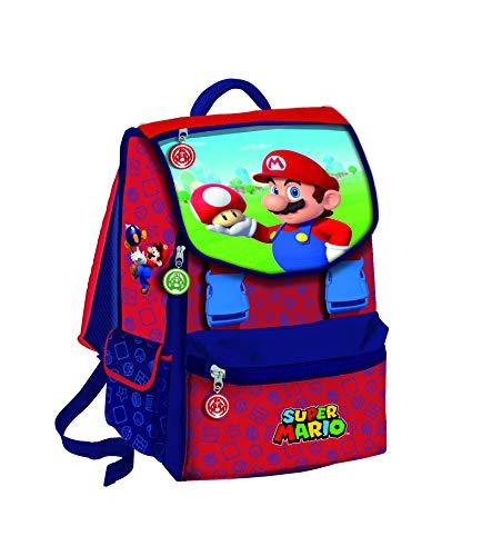 CARTOON WORLD Zaino Estensibile Scuola Super Mario Bros e Luigi