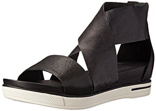 Eileen Fisher Women's Sport Sandal, Black Tumbled Leather, 8.5 M US