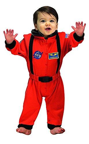 Aeromax Jr. Astronaut Suit with NASA patches, Orange, Size 6/12 Months