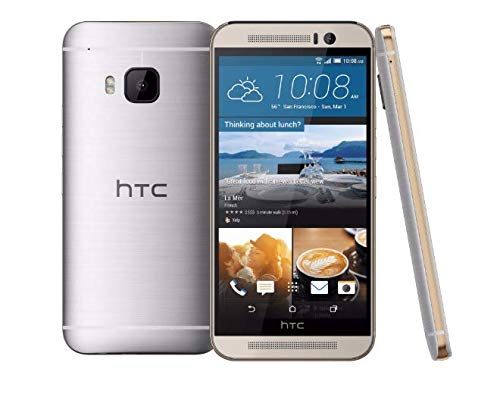 """top rated HTC One M9 5 """" 4G LTE 32 GB T-Mobile Android Smartphone – (Silver / Gold) 2020"""