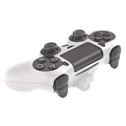 Gioteck Controller Power Skin/Hartschalen mit integriertem Akku für PS4 weiß