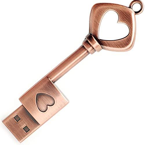 Chiavetta USB da 32 GB, BorlterClamp Scheda di Memoria USB 2.0 Unità Flash a Forma di Chiave Metallo Retrò
