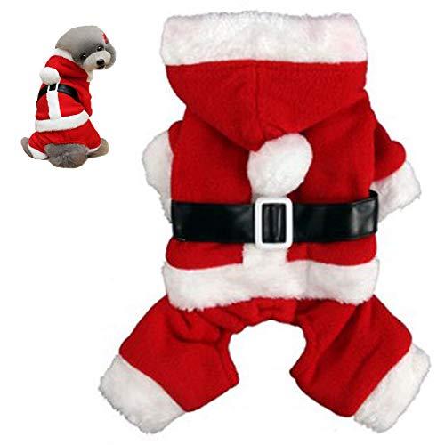 Bongles Ropa De Abrigo Perro De Santa Navidad del Traje De Perrito con Capucha del Invierno para Perro Ropa para...