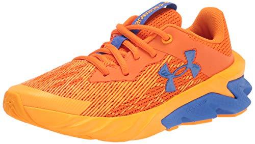 Under Armour Boy's Pre School Scramjet 3 Sneaker, Vibe Orange (800)/Lunar Orange, 2.5 Little Kid