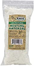 All-Natural Nesting Material (4 oz.) - 100% Cotton Eco-Friendly Animal Bedding - For Sugar Gliders, Squirrels, Hamsters, Rabbits, Chinchillas, Rats, Mice, Gerbils, Guinea Pigs and Other Small Pets