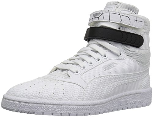 PUMA Women's Sky ii hi sf Texture WN's Basketball Shoe, White Black, 6.5 M US