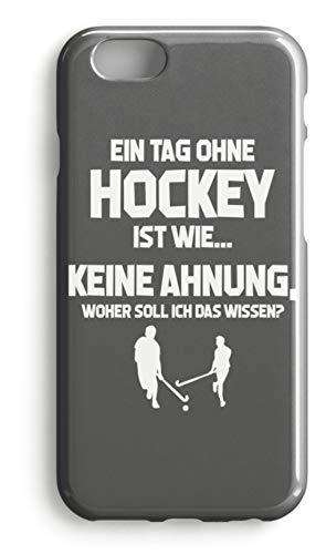 shirt-o-magic Handyhülle Hockey-Fan: Tag ohne Hockey? Unmöglich! - Case -iPhone 7-Mausgrau