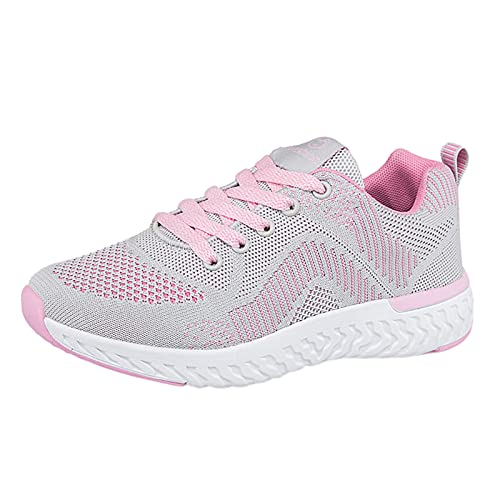 Zapatillas de Deporte Mujer Running Zapatos para Correr Antishock Gimnasio Sneakers Deportivas Transpirables Tennis Mujer(A16_Pink,36)