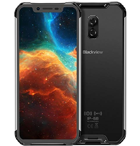 (2019) Blackview BV9600 4G Smartphone Libre Resistente, Android 9.0 móvil Todoterreno IP68 antigolpes, Helio P70 4GB + 64GB, 6.21'' FHD + AMOLED, Dual SIM, NFC, 16MP + 8MP, Carga inalámbrica Negro