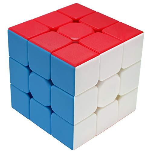 Maomaoyu Zauberwürfel 3x3 3x3x3 Original Speed Cube Stickerless Magic Cube Puzzle Magischer Würfel PVC Aufkleber für Schneller und Präziser mit Lebendigen Farben