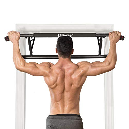Ollieroo Doorway Chin Up Over Door Pull Up Bar Pull Up Bars Total Upper Body Workout Bar Pull Up Bar Strength Training Bars Multi-Grip Trainer Workout for Home Gym (Ergonomic Grip)