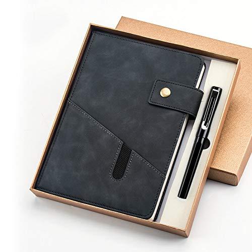 Sub-Notebook -Business -Notebook -A5-Wachsartig Fühlen Diese Handtasche Schnalle930Goldlackstift-Schwarz