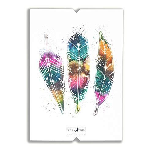 The Ink Co. Cosmobook - Notebook (Cuaderno de notas A5, 160 páginas, puntos, tapa blanda) (Plumas)