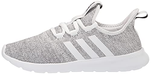 adidas Women's Cloud foam Pure Running Shoe, white/white/black, 10 Medium US