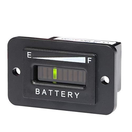 36 Volt EZGO LED Battery Meter Indicator Gauge Especially for EZGO Golf Cart/Trojan Batteries (36V-EZGO/Trojan Batteries)