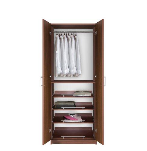 Review Of Contempo Space Bella Wardrobe Closet - 4 Full-Extension Sliding Shelves
