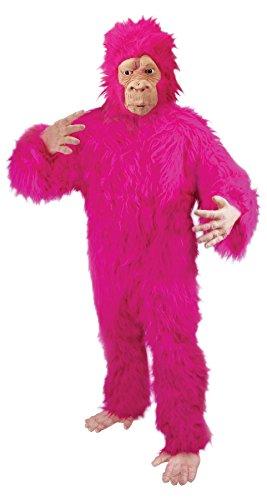 Loftus International Halloween Fuzzy Gorilla Adult Costume Pink One Size Novelty Item