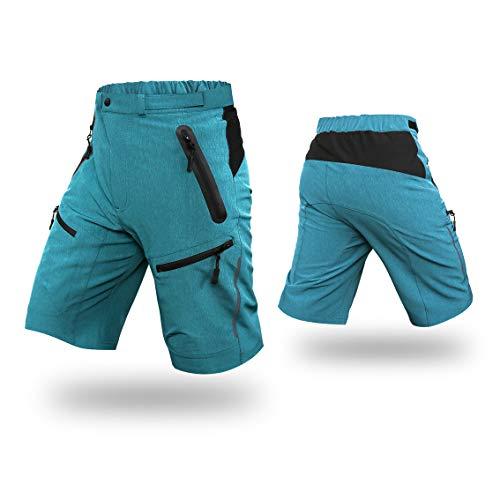 Capplue Hombres C/ómodo Pantalones Cortos de Ciclismo MTB Al Aire Libre Pantalones Ciclismo 3D Silicona Gel Padded Pantalones