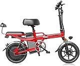 Bicicleta eléctrica Bicicleta eléctrica por la mon Bicicletas rápidas y Eléctrica en adultos de peso ligero plegable compacto EBike for ir al trabajo y ocio - 14 pulgadas ruedas, Suspensión trasera, p