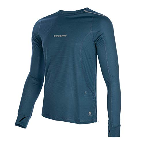 Trangoworld Bailo Camiseta, Hombre, Azul Ceramica, L