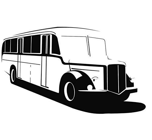 Muursticker Applique muurschildering meisje jongen Vinyl voor Home Art Decoratie Vintage Bus School Bus 75x113cm
