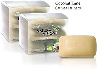 Natural Visions Coconut Lime Oatmeal Bar Soap - 12 Bars