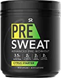 PRE Sweat Advanced Pre-Workout Energy Powder | 9 Essential Amino Acids, Organic Caffeine + L-theanine with German Sourced Creatine, Beta-Alanine, Acetyl- L-Carnitine & Tart Cherry…