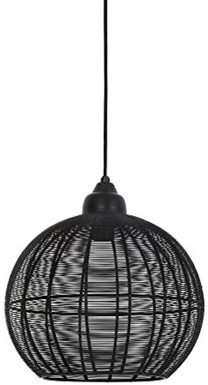 Light & Living Pendelleuchte Hngeleuchte 32x32,5 MILLA matt schwarz für E27 Leuchtmittel für Wohnzimmer Esszimmer Schlafzimmer usw.