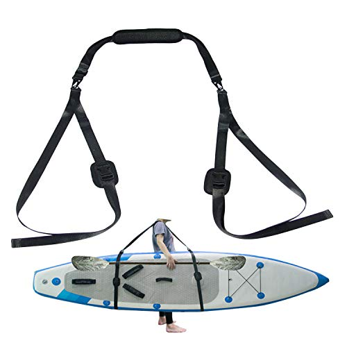 Small Bing Verstellbarer Kajak SUP Trageriemen Mehrzweck-Schultergurt für Surfboard Stand Up Paddleboard Kanu Longboard Tragegurt Paddle Board Zubehör