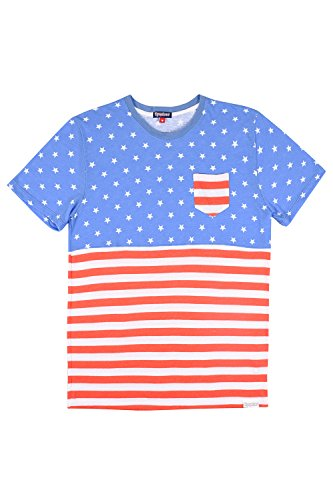 Tipsy Elves Men's American Flag Patriotic T Shirts - USA Tee Shirts for Men (X-Large, American Flag Pocket Tee)