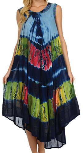 Sakkas 10SE Tasanee Kaftan-Behälter-Kleid/Vertuschung - Blau - One Size