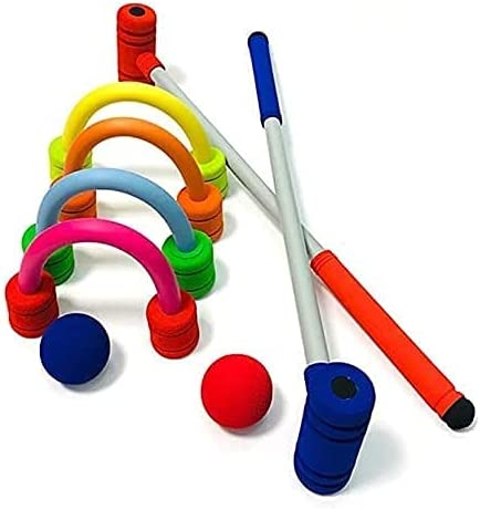VTAMIN Sales results No. 1 2 Player Garden Croquet Set Challenge the lowest price of Japan ☆ and Mallets with Wooden Stora