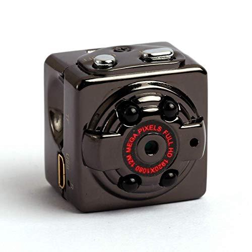 ieGeek Mini 1080P Versteckte Kamera, Bewegliche SQ8 Mikro-DV Kamera, Bewegungs-Entdeckungs-Körper-Kamera-Videogerät mit Nachtsicht für Innen-, im Freien, Auto.