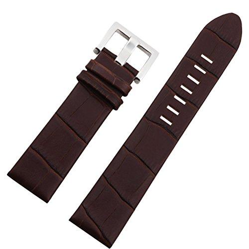 Nuevo 22mm Correa de Piel marrón Timewalker Correa de Reloj Banda Hebilla de Repuesto