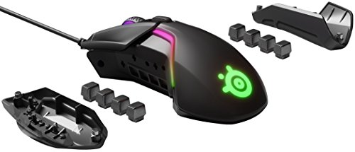SteelSeries Rival 600 – Gaming-Maus – 12.000 CPI TrueMove3+ Dual Optical Sensor – 0,05 Lift-off-Distanz – Gewichtssystem – RGB-Beleuchtung - 5