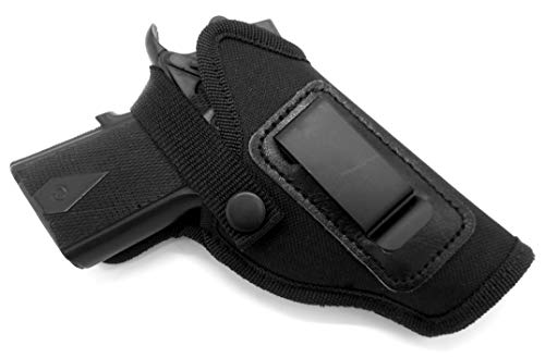"""HOLSTERMART USA Dual-Function OWB Belt Slide or Concealment IWB/AIWB Clip-On Holster with Body Shield for Kimber Ultra Carry II 3"""", Ultra CDP II 3"""", Super Carry Ultra 3"""""""
