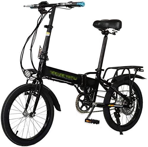 ZJZ Bicis eléctricas de 18 Pulgadas, Deportes Adultos Plegables portátiles de la...