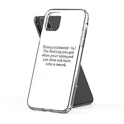 Cajas de teléfono Pure Clear Percy Jackson Disappointment Compatible con iPhone Samsung Xiaomi Redmi Note 10 Pro/Note 9/8/9A/Poco M3 Pro/Poco X3 Pro Funda Choque de caída