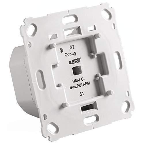 ELV Homematic Bausatz Funk-Schaltaktor 2-Fach für Markenschalter, HM-LC-Sw2PBU-FM