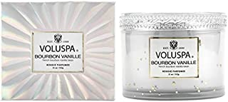 Voluspa Bourbon Vanille Corta Maison Boxed Glass Candle, 11 Ounces