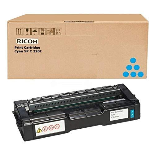 Ricoh 407544 - Cartucho de tóner láser, color cyan