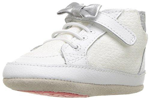 Robeez Girls' High Top Sneaker-Mini Shoez Crib Shoe, Skipping Stella - White, 3-6 Months M US...