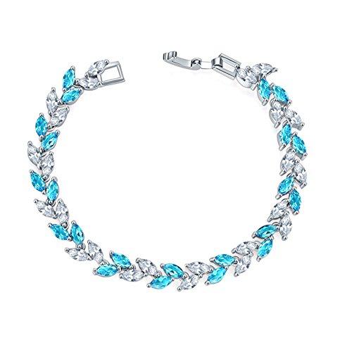JUNGEN Kristallweizen Armband Bunt Armbänder Damen Armreifen Schmuck