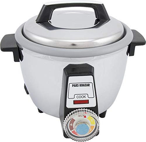 Pars Khazar Rice Cooker, Automatic, with crispy Tahdig function. Reiskocher, automatisch, mit knuspriger Tahdig-Funktion (White, 12 Person)