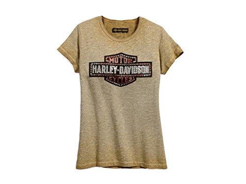 Harley-DavidsonStudded Logo Tee Damen T-Shirt, 99048-18VW, XL-LADY