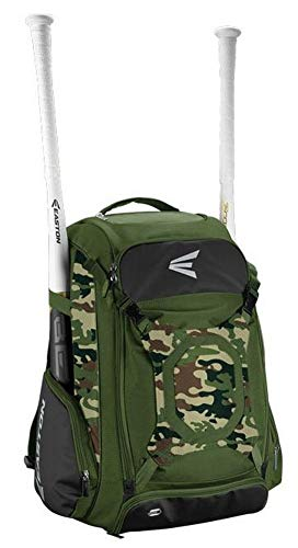 EASTON WALK-OFF IV Bat & Equipment Backpack Bag | Baseball Softball | 2020 | Army Camo | 2 Bat Sleeves | Vented Shoe Pocket | External Helmet Holder | 2...
